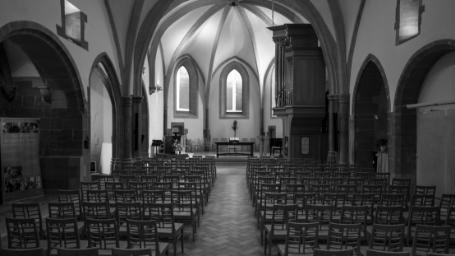 Interior of 'Auditoire de Calvin', Geneva